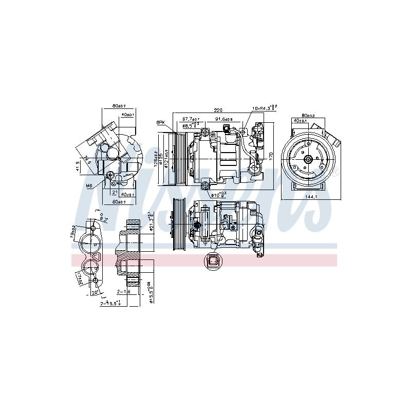 Compresseur, climatisation NISSENS [890044]