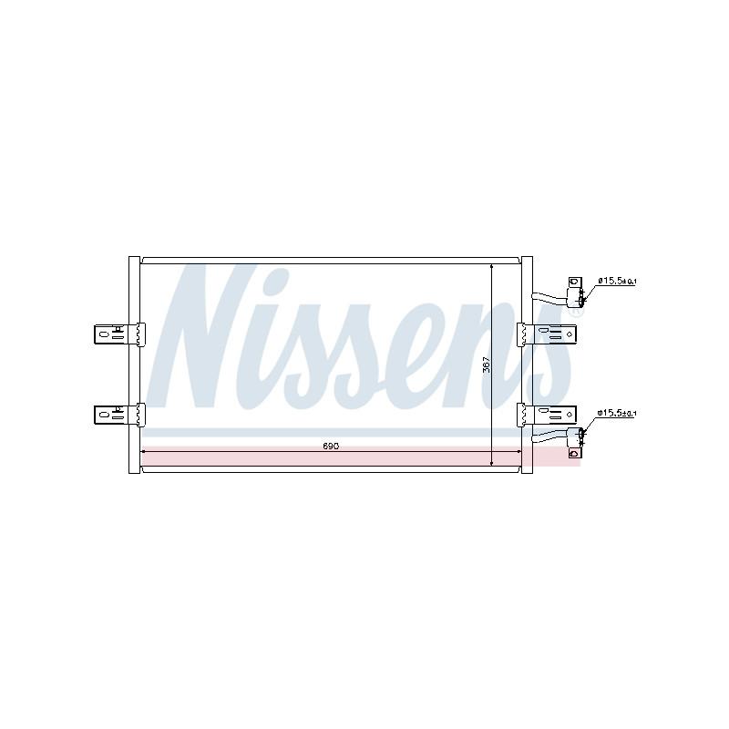 Condenseur, climatisation NISSENS [940119]