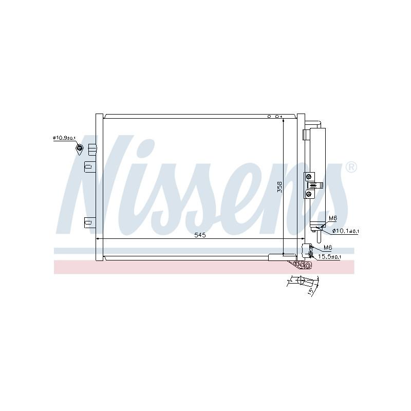 Condenseur, climatisation NISSENS [940125]