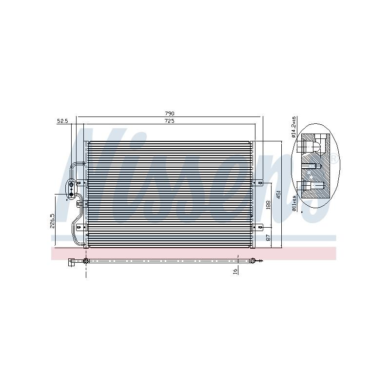 Condenseur, climatisation NISSENS [94210]