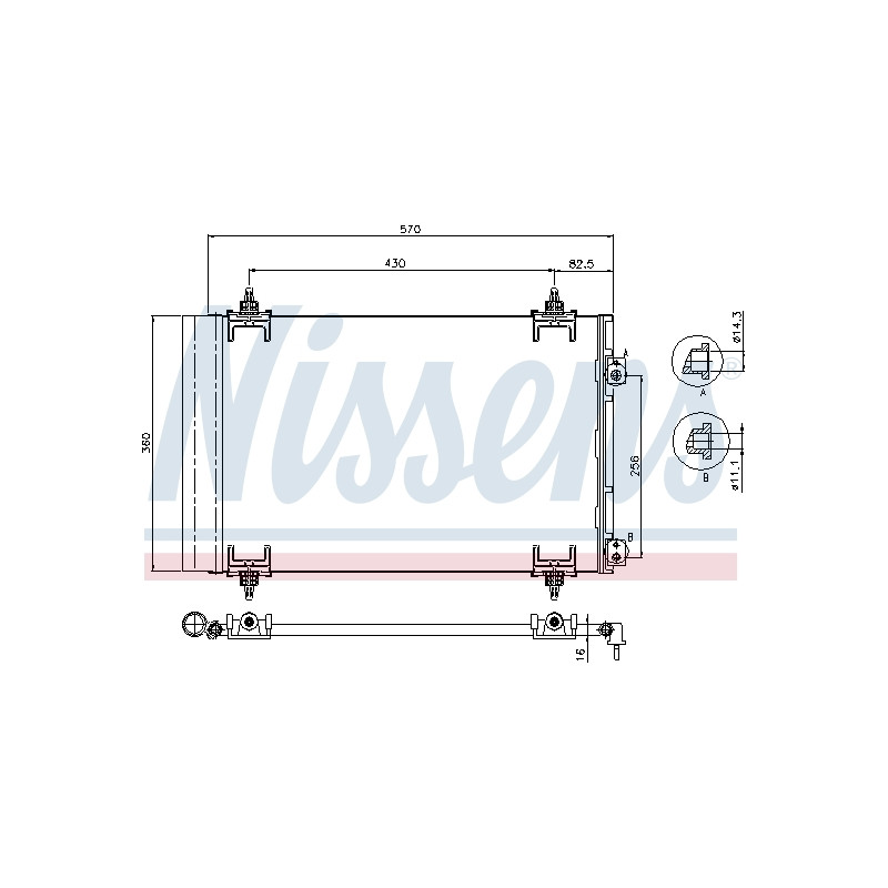 Condenseur, climatisation NISSENS [94826]