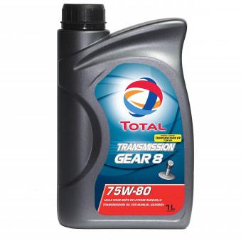 Huile Transmission 75W80 Gear 8 - 1 Litre TOTAL D74BFE pour
