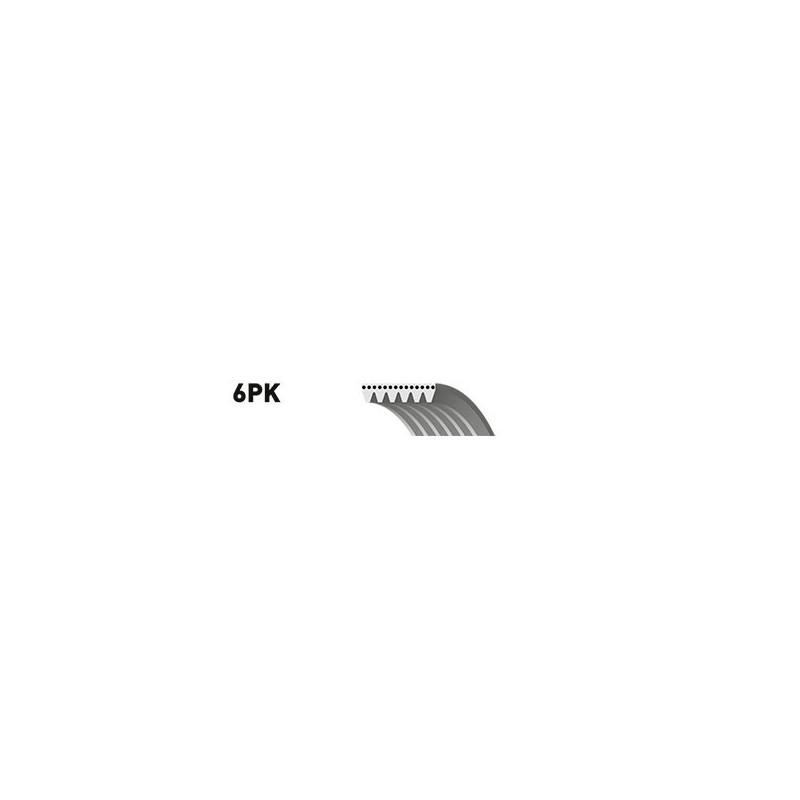 Courroie trapézoïdale à nervures GATES [6PK1750]