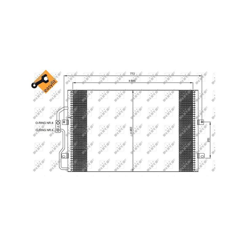 Condenseur, climatisation NRF [35802]